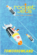 "Animation Art:Poster, Disneyland Park Entrance Poster ""Rocket Jets"" Tomorrowland (Walt Disney, 1967)...."