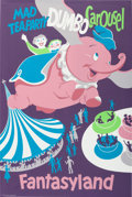 "Animation Art:Poster, Disneyland Park Entrance Poster ""Dumbo"" Fantasyland (Walt Disney,1955)...."