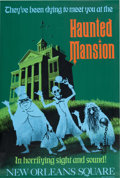 "Animation Art:Poster, Disneyland Park Entrance Poster ""The Haunted Mansion"" (Walt Disney,1969)...."