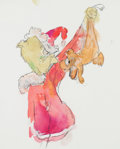 Animation Art:Production Drawing, Chuck Jones - The Grinch and Max Painting Original Art (c.1980s-90s)....