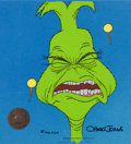 Animation Art:Production Cel, Doctor Seuss' How the Grinch Stole Christmas Production Celand Storyboard Drawing (MGM, 1966).... (Total: 2 Items)