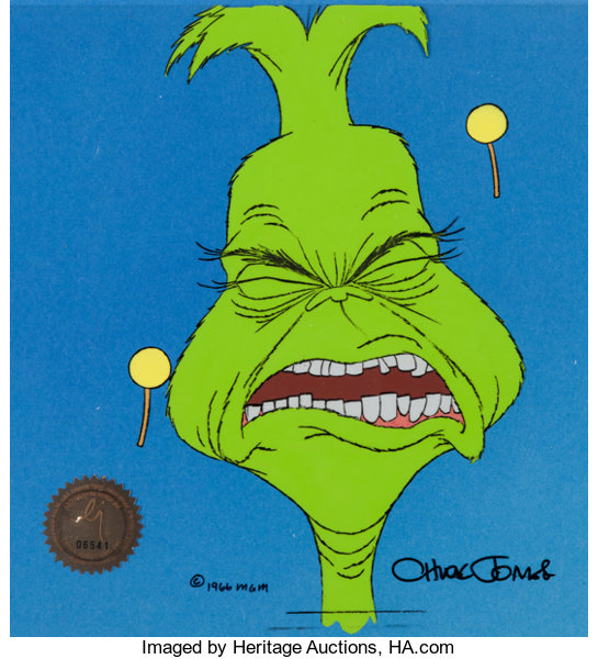 ... Animation Art:Production Cel, Doctor Seuss' How the Grinch Stole Christmas Production Celand ...
