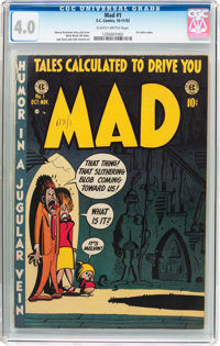 MAD #1 (EC, 1952) CGC VG 4.0 Slightly brittle pages