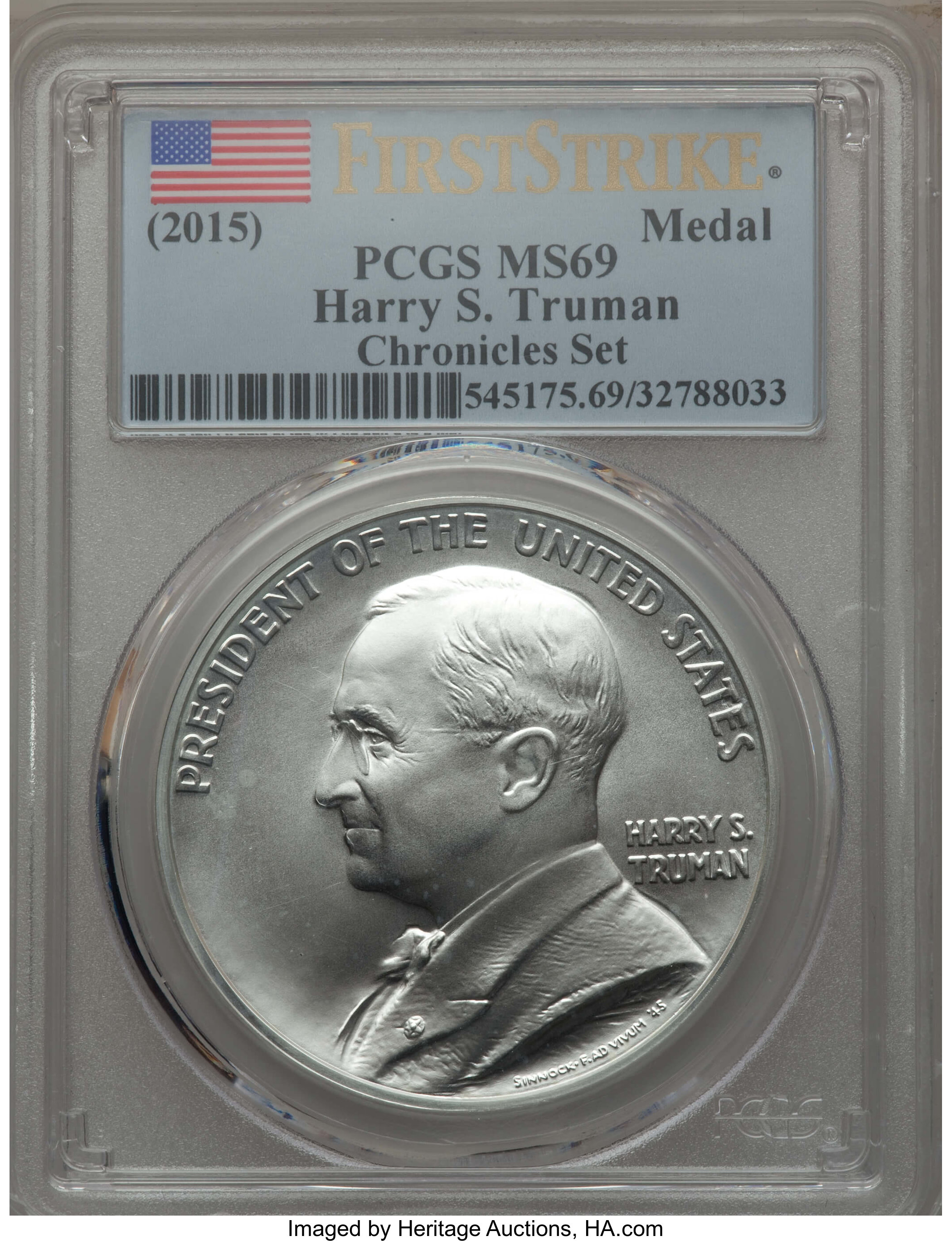 Coin and Chronicles MEDAL PCGS MS69 FIRST STRIKE SET OF 4 2015