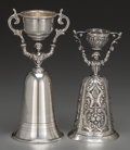 Silver Holloware, Continental:Holloware, Two German Silver Wager Cups, late 19th-20th century. Marks: STERLING, GERMANY, 5; (crescent-crown-800). 5-7/8 inches hi... (Total: 2 Items)