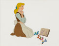 Animation Art:Production Cel, Cinderella Cinderella, Mice, and Birds Production Cel Setup(Walt Disney, 1950)....