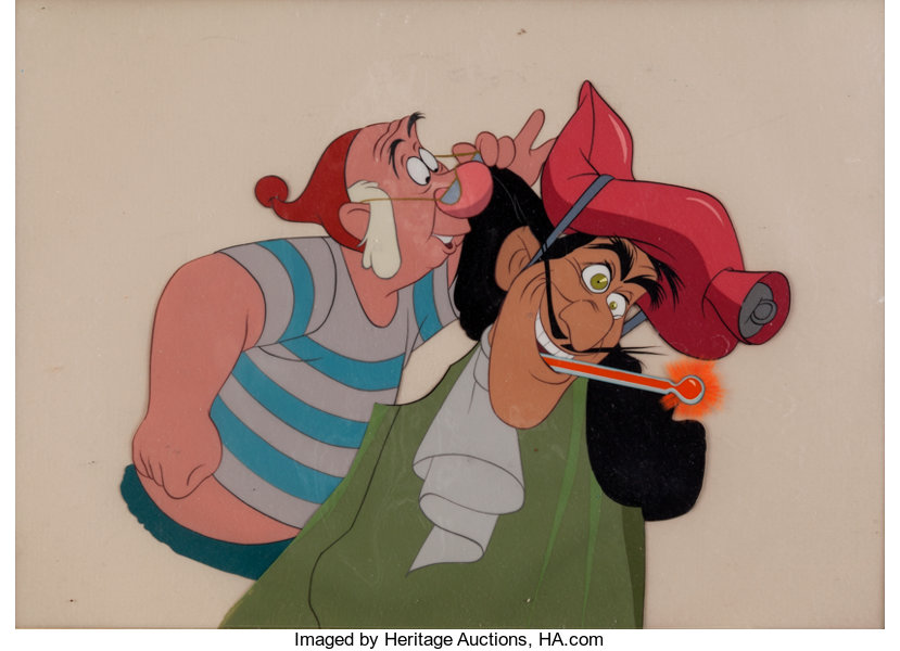 Animation ArtProduction Cel Peter Pan Captain Hook And Mr Smee Production