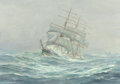 Fine Art - Painting, American:Modern  (1900 1949)  , Anton Otto Fischer (American, 1882-1962). Clipper Ship in RoughSeas. Oil on canvas. 24 x 34-1/4 inches (61 x 87 cm). Si...
