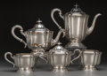 Silver Holloware, American:Tea Sets, A Five-Piece Gorham Silver Tea and Coffee Service, Providence, Rhode Island, circa 1931. Marks: (lion-anchor-G), GORHAM, S... (Total: 5 Items)