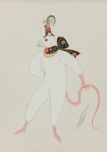 Fine Art - Work on Paper:Drawing, Erté (Romain de Tirtoff) (Russian/French, 1892-1990).Fashionable Mouse, circa 1930. Gouache on paper. 14-1/2 x10-1/2 i...