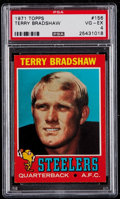 Football Cards:Singles (1970-Now), 1971 Topps Terry Bradshaw #156 PSA VG-EX 4....