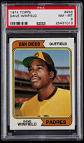 Baseball Cards:Singles (1970-Now), 1974 Topps Dave Winfield #456 PSA NM-MT 8....