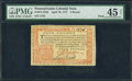 Colonial Notes:Pennsylvania, Pennsylvania April 10, 1777 £4 Red and Black PMG Choice ExtremelyFine 45 Net.. ...