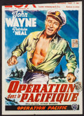 "Movie Posters:War, Operation Pacific & Other Lot (Warner Brothers, 1953). Trimmed Belgian (14"" X 19.75"") & Belgian (14.75"" X 21.5""). War.. ... (Total: 2 Items)"