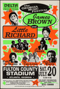 "Movie Posters:Rock and Roll, The Georgia Music Festival featuring James Brown and Little Richard(Dell Productions, 1991). Concert Window Card (22"" X 33""..."