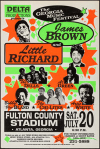 The Georgia Music Festival featuring James Brown and Little Richard (Dell Productions, 1991). Concert Window Card (22&qu...