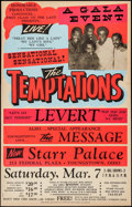 """Movie Posters:Rock and Roll, The Temptations at The Starr Palace & Other Lot (HonorableProductions, 1980s). Concert Window Card (22"""" X 35"""") & ConcertPo... (Total: 2 Items)"""