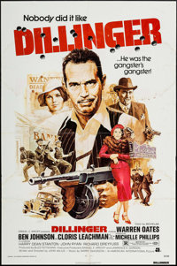"""Dillinger & Others Lot (American International, 1973). One Sheets (5) (27"""" X 41"""") & Pressbook (30 Page..."""