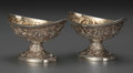 Silver Holloware, American:Open Salts, A Pair of Black, Starr & Frost Partial Gilt Silver RepousséOpen Salts, New York, New York, circa 1880. Marks: BLACKSTARR... (Total: 2 Items)