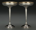 Silver & Vertu:Hollowware, A Pair of Watson Co. Weighted Silver Compotes, Attleboro, Massachusetts, circa 1940. Marks: (crown-W-lion), STERLING SILVE... (Total: 2 Items)