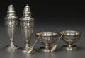 Silver Holloware, American:Open Salts, A Six-Piece Whiting Mfg. Co. Silver Salt and Pepper Group, NewYork, New York, circa 1913-1914. Marks: (W-griffin), STERLI...(Total: 6 Items)