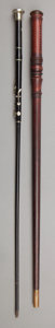 Decorative Arts, British:Other , Two Figural Woodwind Canes: Whistle and Flute, early 20thcentury. 37-5/8 inches high (95.6 cm) (taller). ... (Total: 2Items)
