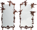 Decorative Arts, Continental:Other , A Pair of Continental Carved Figural Mirror Frames, early 20thcentury. Marks: (original retail labels). 69 h x 45 w inches ...(Total: 2 Items)