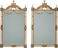 Decorative Arts, Continental:Other , A Pair of Louis XVI-Style Enameled Gilt Bronze Mirror Frames, 20thcentury. 48 inches high x 27-1/2 inches wide (121.9 x 69....(Total: 2 Items)