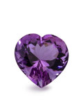Gems:Faceted, Gemstone: Amethyst - 12.34 Ct.. Brazil. 15.4 x 15.4 x 10.5 mm. ...
