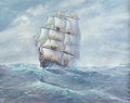 Fine Art - Painting, European:Contemporary   (1950 to present)  , Michael J. Whitehand (British, b. 1941). The Chariot of Fame, Crossing the Atlantic From Liverpool to Boston in 1853. Oi...