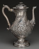 A Samuel Kirk Silver Repoussé Coffee Pot, Baltimore, Maryland, circa 1830-1846 Marks: (SK), (11/12), S. Kirk &amp...