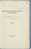 Books:Periodicals, G.F. Loughlin and A.H. Koschmann. Geology and Ore Deposits of the Cripple Creek District, Colorado. Denver, Colorado...