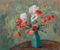 Fine Art - Painting, European:Modern  (1900 1949)  , Marthe Orant (French, 1874-1953). Coquelicots et Fleurs desChamps. Oil on board laid on panel. 26-1/2 x 31-1/2 inches (...