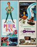"Movie Posters:Animation, Peter Pan & Other Lot (Buena Vista, R-1969). Inserts (2) (14"" X 36""). Animation.. ... (Total: 2 Items)"