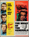 "Movie Posters:War, Kings Go Forth & Other Lot (United Artists, 1958). Inserts (2)(14"" X 36""). War.. ... (Total: 2 Items)"