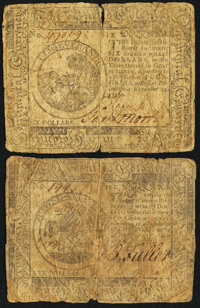 Continental Currency November 29, 1775 $5 and $6
