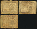 Colonial Notes:Continental Congress Issues, Continental Currency $1s.. ... (Total: 3 notes)