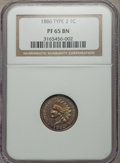Proof Indian Cents, 1886 1C Variety 2 PR65 Brown NGC. NGC Census: (14/12). PCGS Population (25/10). Numismedia Wsl. Price for problem free NGC...