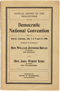 Books:Americana & American History, [Democratic National Convention]. Milton W. Blumenberg, reporter.Official Report of the Proceedings of the Democrat...