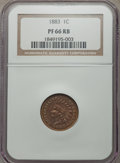 Proof Indian Cents: , 1883 1C PR66 Red and Brown NGC. NGC Census: (35/4). PCGS Population (39/3). Mintage: 6,609. Numismedia Wsl. Price for probl...