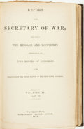 Books:Americana & American History, [Secretary of War]. Report of the Secretary of War; Being Partof The Message and Documents Communicated to the Two Hous...