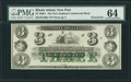 Obsoletes By State:Rhode Island, Newport, RI- New England Commercial Bank $3 18__ Remainder. ...