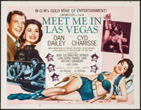 "Meet Me in Las Vegas & Others Lot (MGM, 1956). Half Sheets (3) (22"" X 28"") Style B. Musical. ... (Tota..."