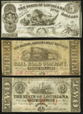 Obsoletes By State:Louisiana, Trio of Louisiana Wartime Issues 1861-62. ... (Total: 3 notes)