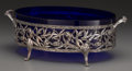 Silver Holloware, Continental:Holloware, An Art Nouveau-Style Silver-Plated and Glass Centerpiece, circa1920. 5-1/4 inches high x 15-1/4 inches wide (13.3 x 38.7 cm...