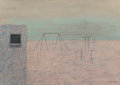 Fine Art - Work on Paper:Drawing, Eduard Angeli (Austrian, b. 1942). Untitled (Playground),1986. Pastel on paper. 20 x 28 inches (50.8 x 71.1 cm) (sheet)...