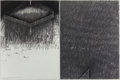 Fine Art - Work on Paper:Drawing, Paul Z. Rotterdam (American/Austrian, b. 1939). UnicornEnclosure, 1985. Pencil on paper. 31-1/4 x 47 inches (79.4 x119...