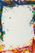 Fine Art - Work on Paper:Print, Sam Francis (American, 1923-1994). Sulfur Sails (SF-93),1969. Lithograph in colors on Rives BFK paper. 38-1/4 x 26 inch...