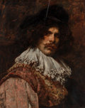 Fine Art - Painting, European:Antique  (Pre 1900), Ferdinand Roybet (French, 1840-1920). The Cavalier. Oil onpanel. 25-3/4 x 21 inches (65.4 x 53.3 cm). Signed upper left...