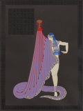 Fine Art - Work on Paper:Print, Erté (Romain de Tirtoff) (Russian/French, 1892-1990). Salome'sSlave. Embossed screenprint with foil stamping on grey pa...